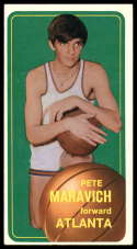 1970-71 Topps #123 Pete Maravich crease neck to edge RC Rookie