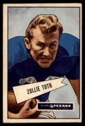 1952 Bowman Small #58 Zollie Toth VG/EX Very Good/Excellent Dallas Texans