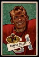 1952 Bowman Small #141 Gordon Soltau VG/EX Very Good/Excellent San Francisco 49ers