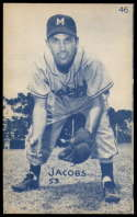 1953 Canadian Exhibits #46 Forrest Jacobs EX/NM Montreal Royals