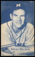 1953 Canadian Exhibits #49 Rocky Nelson EX/NM Montreal Royals