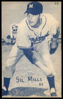 1953 Canadian Exhibits #55 Gil Mills EX/NM Montreal Royals