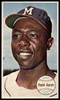 1964 Topps Giants #49 Hank Aaron EX Excellent Milwaukee Braves
