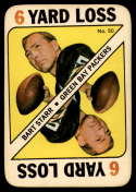 1971 Topps Game Inserts #50 Bart Starr EX Excellent Green Bay Packers