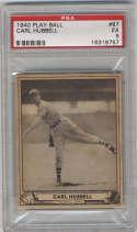 1940 Play Ball #87 Carl Hubbell PSA 5 New York Giants