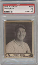 1940 Play Ball #163 Spud Davis PSA 5 Pittsburgh Pirates