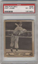 1940 Play Ball #206 Chet Laabs PSA 6 RC Rookie St. Louis Browns