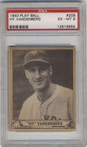 1940 Play Ball #209 Hy Vandenberg PSA 6 RC Rookie New York Giants