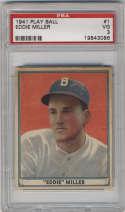 1941 Play Ball #1 Eddie Miller PSA 3 Boston Braves