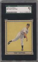 1941 Play Ball #20 Red Ruffing SGC 84 7 New York Yankees