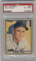 1941 Play Ball #60 Chuck Klein PSA 6 Philadelphia Phillies