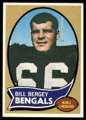 1970 Topps #168 Bill Bergey EX/NM RC Rookie Cincinnati Bengals