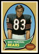 1970 Topps #256 Mac Percival EX/NM RC Rookie Chicago Bears