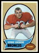 1970 Topps #257 George Goeddeke EX/NM RC Rookie Denver Broncos