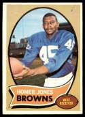 1970 Topps #258 Homer Jones marked EX/NM Cleveland Browns