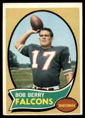 1970 Topps #259 Bob Berry EX Excellent RC Rookie Atlanta Falcons