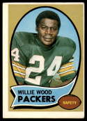 1970 Topps #261 Willie Wood EX Excellent Green Bay Packers