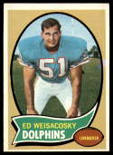 1970 Topps #262 Ed Weisacosky EX Excellent RC Rookie Miami Dolphins