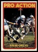 1972 Topps #347 Steve Owens IA NM Near Mint Detroit Lions