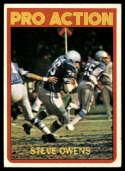 1972 Topps #347 Steve Owens IA VG Very Good Detroit Lions