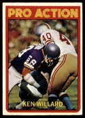 1972 Topps #351 Ken Willard IA EX Excellent San Francisco 49ers