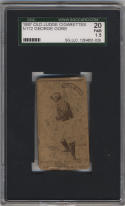 1887 Old Judge Cigarettes N172 # George Gore Hand Head High SGC 20 1.5