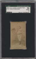 1887 Old Judge Cigarettes N172 # Yank Robinson Catching St. Louis Browns SGC 50 4