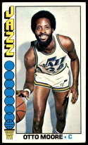 1976-77 Topps #106 Otto Moore EX Excellent New Orleans Jazz