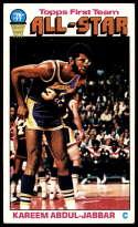 1976-77 Topps #126 Kareem Abdul-Jabbar AS NM Near Mint Los Angeles Lakers