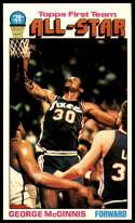 1976-77 Topps #128 George McGinnis AS NM Near Mint Philadelphia 76ers