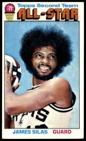 1976-77 Topps #134 James Silas AS EX Excellent San Antonio Spurs