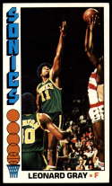 1976-77 Topps #136 Leonard Gray EX Excellent Seattle SuperSonics