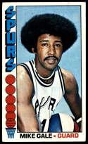 1976-77 Topps #141 Mike Gale EX Excellent San Antonio Spurs