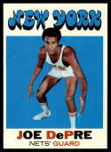 1971-72 Topps #226 Joe DePre NM Near Mint New York Nets