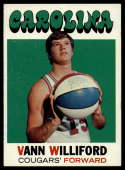 1971-72 Topps #229 Vann Williford VG/EX Very Good/Excellent Carolina Cougars