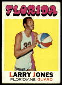 1971-72 Topps #230 Larry Jones VG/EX Very Good/Excellent Florida Floridians