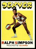 1971-72 Topps #232 Ralph Simpson EX/NM RC Rookie Denver Rockets