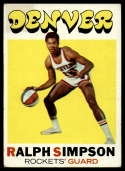 1971-72 Topps #232 Ralph Simpson VG Very Good RC Rookie Denver Rockets