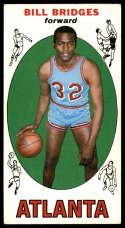 1969-70 Topps #86 Bill Bridges EX Excellent RC Rookie Atlanta Hawks