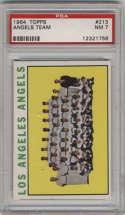 1964 Topps #213 Angels Team PSA 7 Los Angeles Angels