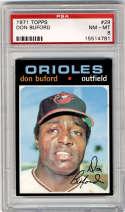 1971 Topps #29 Don Buford PSA 8 Baltimore Orioles