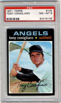 1971 Topps #105 Tony Conigliaro PSA 8 California Angels