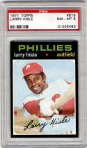 1971 Topps #616 Larry Hisle PSA 8 Philadelphia Phillies