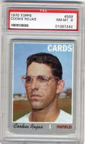 1970 Topps #569 Cookie Rojas PSA 8 St. Louis Cardinals