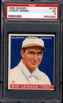 1933 Goudey #174 Curly Ogden PSA 5 RC Rookie Montreal Royals