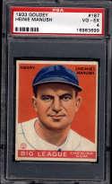 1933 Goudey #187 Heinie Manush PSA 4 RC Rookie Washington Senators