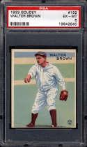 1933 Goudey #192 Walter Brown PSA 6 RC Rookie New York Yankees