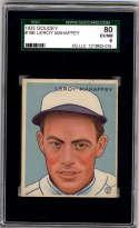 1933 Goudey #196 Roy Mahaffey SGC 80 6 RC Rookie Philadelphia Athletics