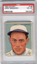 1933 Goudey #196 Roy Mahaffey PSA 4 RC Rookie Philadelphia Athletics