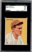 1933 Goudey #206 Gus Suhr SGC 70 5.5 RC Rookie Pittsburgh Pirates